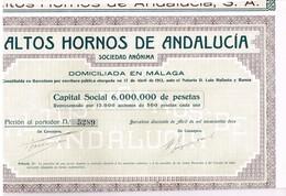 Ancienne Action - Altos Hornos De Andalucia -Titre De 1912 - - Industrie