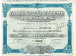 Ancienne Action - Tramways Et Electricité De Damas - Titre De 1928 - N° 12342 - Chemin De Fer & Tramway