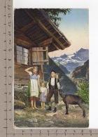 Paysage Alpin - Chèvre / Ziege / Goat / Capra (1913) - Animaux & Faune