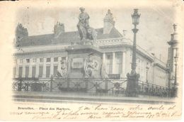 Bruxelles - CPA - Brussel - Place Des Martyrs - Marktpleinen, Pleinen