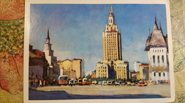 Russia. Moscow - Old Postcard - Kazansky Railway Station - Bahnhof -  1975 - Taxi & Carrozzelle