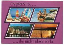 CYPRUS IS ...THE RIGHT PLACE TO BE / GIRLS ON THE BEACH-SEINS NUS/BREASTS NUDE / THEMATIC STAMP-GAMES OF SMALL STATES - Cipro