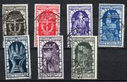 1934 Regno Annessione Fiume  N. 350 - 356 Sassone Serie Completa Used - 1900-44 Victor Emmanuel III