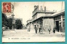 68 - Carte Postale Alsace Mulhouse Haut Rhin Gare Animée - 1910 - Mulhouse