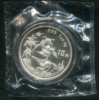 6871 - CHINA VR - 10 Yuan Panda 1996 (KM 892), 1 Unze Silber, OVP - China