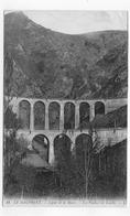 (RECTO / VERSO) LIGNE DE LA MURE EN 1910 - N° 34 - LES VIADUCS DE LOULLA - BEAU CACHET - CPA VOYAGEE - La Mure