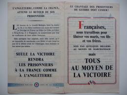 WWII WW2 Tract Flugblatt Propaganda Leaflet In French, PWE F Series/1942, F.42, LE CHANTAGE DES PRISONNIERS DE GUERRE... - Oude Documenten