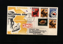 Papua New Guinea 1972 Interesting Registered Letter - Papouasie-Nouvelle-Guinée