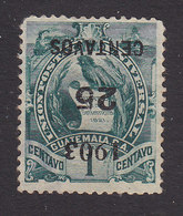 Guatemala, Scott #124a, Used, National Emblem Surcharged, Issued 1903 - Guatemala