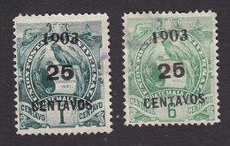 Guatemala, Scott #124, 126, Used, National Emblem Surcharged, Issued 1903 - Guatemala