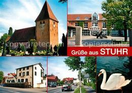 73214031 Stuhr Kirche Rathaus Alte Muehle Landstrasse Biotop Stuhr - Stuhr