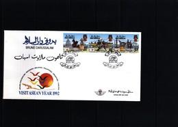 Brunei 1992 Visit ASEAN Year FDC - Brunei (1984-...)