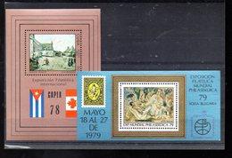 CUBA BLOC 53 ET 58** SUR LES EXPOS PHILATELIQUES CAPEX 78 ET PHILASERDICA 79 - Blocs-feuillets