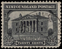 Newfoundland 1928-29 DLR 20c Perf 13½ Fine Used. - 1908-1947