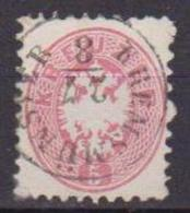 AUSTRIA  1863 AQUILABICIPITE FILIGRANA F UNIF. 29 USATO VF - 1850-1918 Imperio