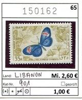 Libanon - Liban - Rep. Libanaise - Michel 901 - ** Mnh Neuf Postfris - Schmetterlinge Butterflies Papillons - Libanon