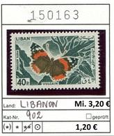 Libanon - Liban - Rep. Libanaise - Michel 902 - ** Mnh Neuf Postfris - Schmetterlinge Butterflies Papillons - Libanon