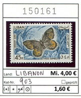 Libanon - Liban - Rep. Libanaise - Michel 903 - ** Mnh Neuf Postfris - Schmetterlinge Butterflies Papillons - Libanon