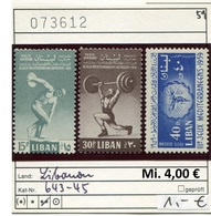 Libanon - Liban - Rep. Libanaise - Michel 643-645 - ** Mnh Neuf Postfris - - Libanon