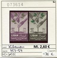 Libanon - Liban - Rep. Libanaise - Michel 653-654 - ** Mnh Neuf Postfris - - Libanon