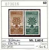 Libanon - Liban - Rep. Libanaise - Michel 670-671 I - ** Mnh Neuf Postfris - - Libanon