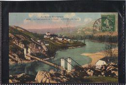 7384 . ST DIDIER PRES DE YENNE . LE PONT SUSPENDU SUR LE RHONE . (recto Verso) ANNEE  1923 - France