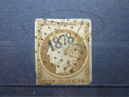 VEND TIMBRE DE FRANCE N° 1a , BISTRE BRUN , P.C. 1878 (MARGERIE-HANCOURT)!!! - 1849-1850 Ceres