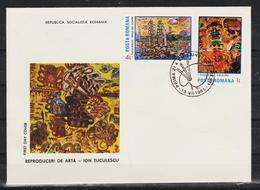 1985 -Reproductions D'art Ion Tuculescu   Mi No 4155/4158 - FDC