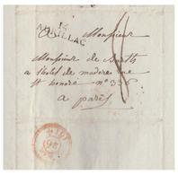 FRANCE -- 1814 -- LETTRE D' AURILLAC POUR PARIS-- - Poststempel (Briefe)