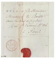 FRANCE -- 1814 -- LETTRE DE HESDIN (PAS DE CALAIS) POUR PARIS -- - 1801-1848: Précurseurs XIX