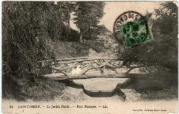 51eg 447 CPA - SAINT OMER - LE JARDIN PUBLIC - PONT RUSTIQUE - Saint Omer