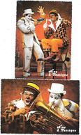 Cirque - NINO & PASTEQUE - CLOWNS PARODISTES & MUSICAUX  -trombone, Situés à REIMS - Cartes Modernes COMBIER Macon - Circo