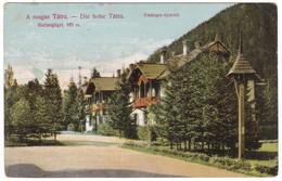 # 8491 Slovakia High Tatra, Postcard Unused 1908: Barlangliget 763 M. Vaskapu-nyaralo - Slovaquie