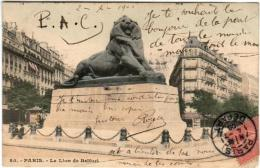 51ee 922 CPA - PARIS - LE LION BELFORT - France