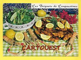 CPSM Recette Cuisine - Les Beignets De LANGOUSTINES - Recipes (cooking)