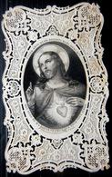 CANIVET  IMAGE PIEUSE SANTINI SACRE COEUR DE JESUS ENTIEREMENT DENTELLEE BOUASSE LEBEL EDITEUR TRES  BEL ETAT - Imágenes Religiosas
