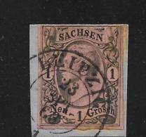 SAC193 / (Michel Nr.  9 II) , Auf Ausschnitt, Leipzig Ortsstempel - Sachsen