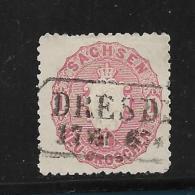 SAC194 / (Michel Nr.  16 A) ,  Dresden, Ortsstempel - Sachsen