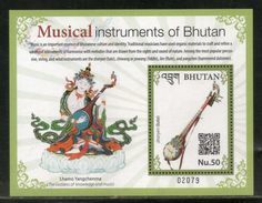 Bhutan 2017 Musical Instruments Lute Flute Music Art M/s MNH# 5435 - Musique