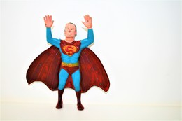 "Vintage CHINA Rubber Dangling Superman 7"" Action Figure - OLD PLASTIC ERA - PLANE 9.00cm - 1970s - Rubber - Cars & 4-wheels"