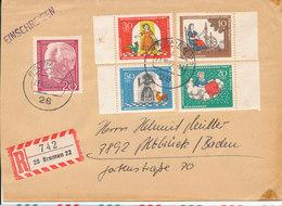 Germany Registered Cover Bremen 23-10-1967 - [7] République Fédérale