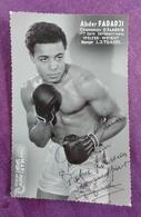 PHOTO BOXE DEDICACEE : FARADJI Abder, Champion D'Algérie. Welter-weight. Studio Mari Sports. - Boxing