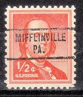 USA Precancel Vorausentwertung Preo, Locals Pennsylvania, Mifflinville 734 - Vereinigte Staaten