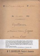 1895 Vente T. Groseiller Notaire Argences,Familles Grégeois,Lecarpentier,Lerat,à ST Pair Par Troarn,Bellengreville - Manuscrits