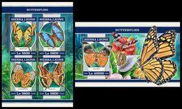 SIERRA LEONE 2018 - Butterflies. M/S + S/S Official Issue. - Insecten