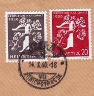 Lettre Recommandée Lucerne Luzern 1940 A. Koch Suisse Schweiz Stitzerland Exposition Nationale 1939 - Brieven En Documenten