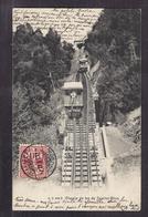 CPA SUISSE - TERRITET - Chemin De Fer De Territet Glion - SUPERBE PLAN TRAIN TRAMWAY Funiculaire ANIMATION 1903 - VD Vaud