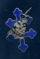 Ancien Insigne émaillé Croix De Lorraine -- Ins7 - Armée De Terre