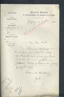 LETTRE DE 1894 DE L ENREGISTREMENT DES DOMAINES & DU TIMBRES BUREAU À JOIGNY 1894 : - Manoscritti