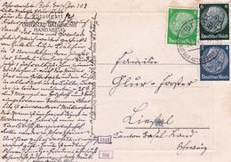 Postkart Stuttgart 1940 Deutschland Original Radierung Handabzug Allemagne - Allemagne